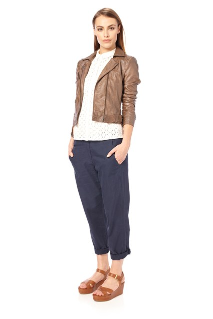 Laurie Linen Roll-Up Trousers