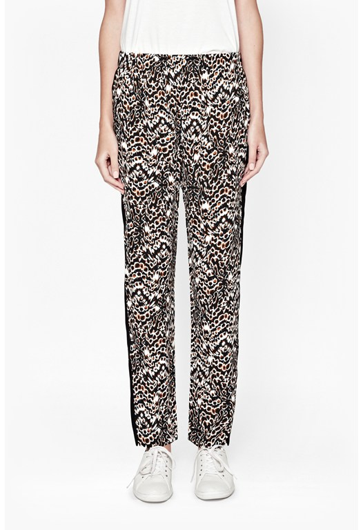 Leopard Moth Crepe Trousers