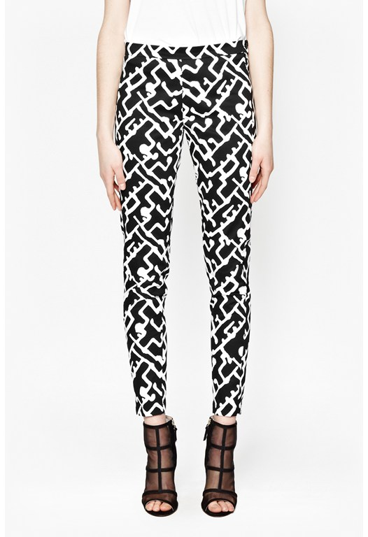 Downtown Grid Printed Trousers