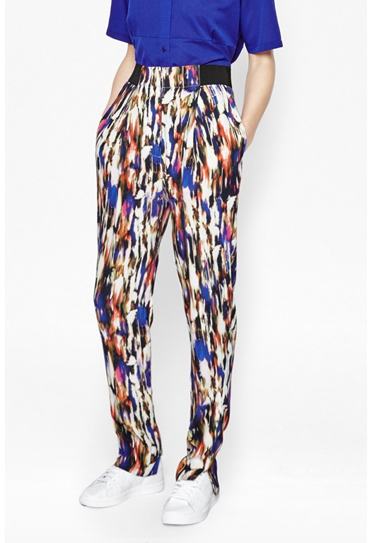 Record Ripple Abstract Trousers