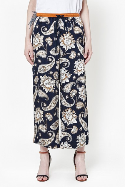 Sundown Silk Flared Pants