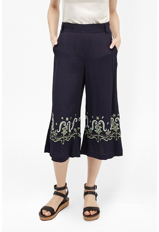 Casa Tile Embellished Pants