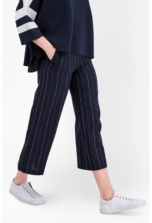 Riviera Stripe Flared Trousers