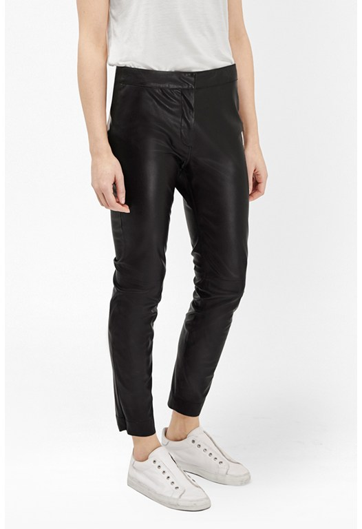Atlantic Faux Leather Cropped Trousers