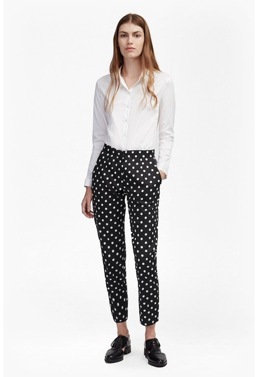 Dotty Spot Ankle Grazing Pants