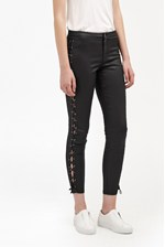 Looks Great With Resin Biker Lace Up Skinny Jeans