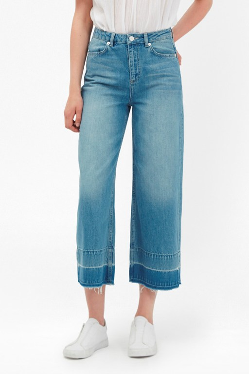 Complete the Look The Detroit Wide Leg Crop Jeans