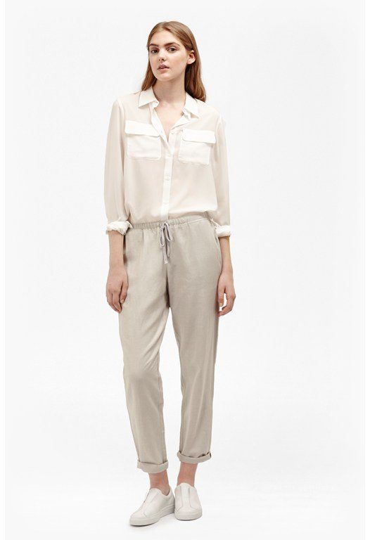 Lucia Linen Drawstring Trousers