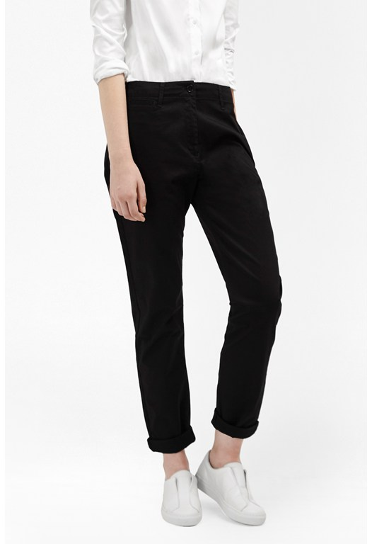 Stretch Roll Up Chino Trousers