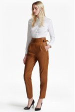 Looks Great With Goldenburg High Rise Leather Trousers