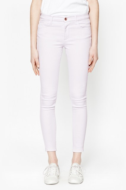 Coloured Skinny Capri Jeans