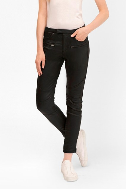 The Rebound Skinny Leather Look Jeans