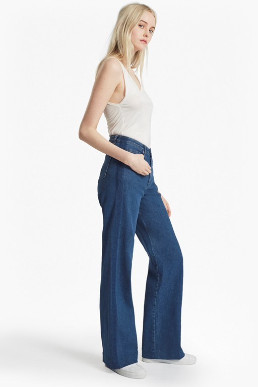 Complete the Look Ash Wide Leg Denim Jeans