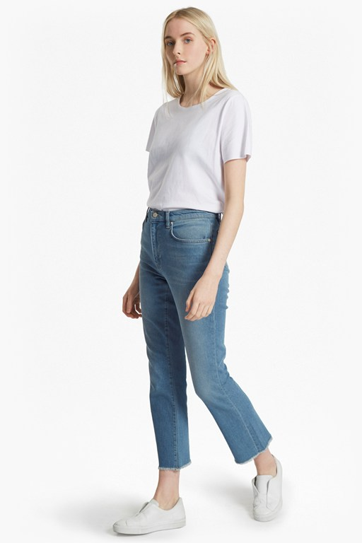 Complete the Look Ash Denim Cropped Kick Flare Jeans