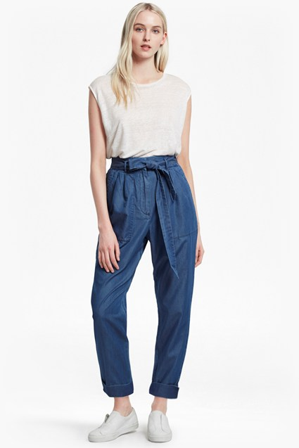 Ary Tencel Paperbag Waist Trousers
