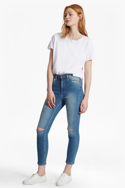 Ash Denim Embroidered Skinny Jeans