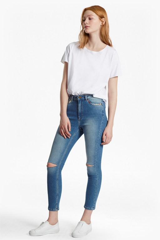 Complete the Look Ash Denim Embroidered Skinny Jeans