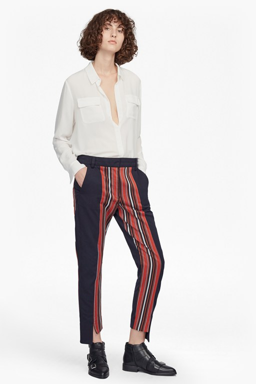 Complete the Look Dovie Striped Suiting Mix Trousers