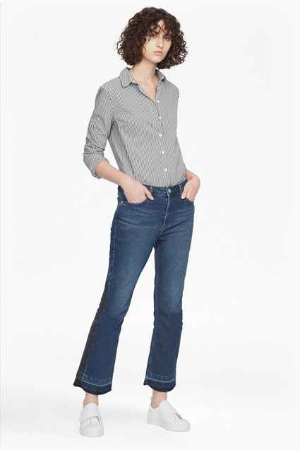 Kick Crop Stretch Denim Jeans