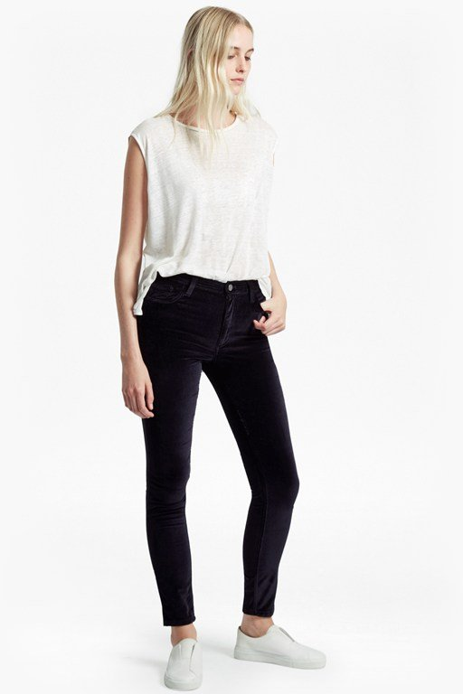 Complete the Look Velvet Luxe Five Pocket Skinny Jeans