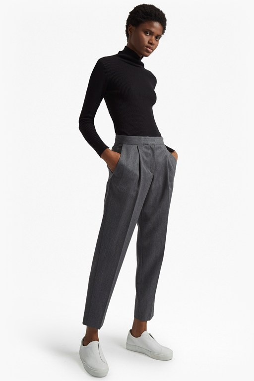 freida wool tapered trousers