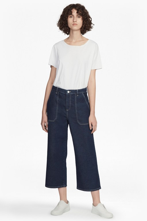 Complete the Look Cargo Twill Wide Leg Culottes