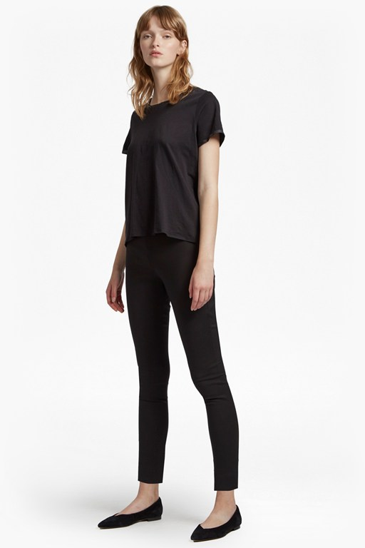 glass stretch skinny trouser