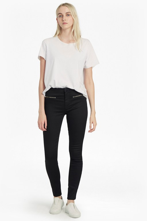Complete the Look Power Stretch Zip Skinny Jeans