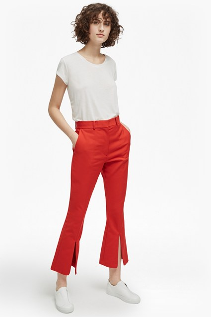 Glass Stretch Kick Flare Trousers