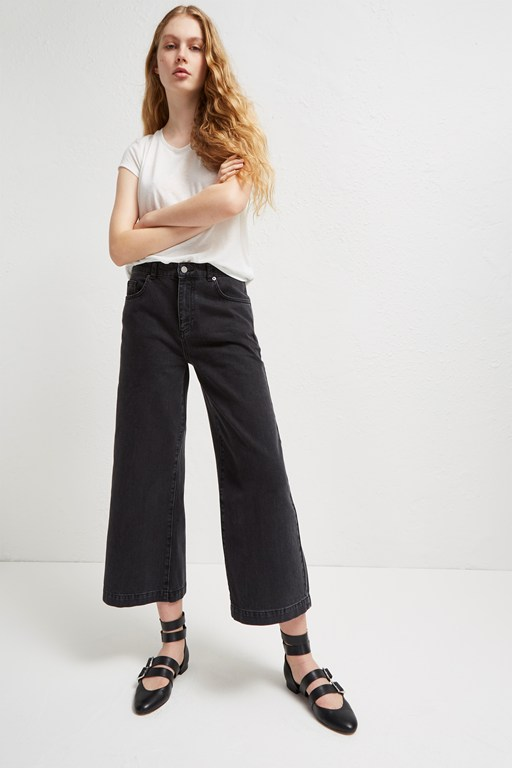 Complete the Look Dennery Denim Cropped Cone Jeans