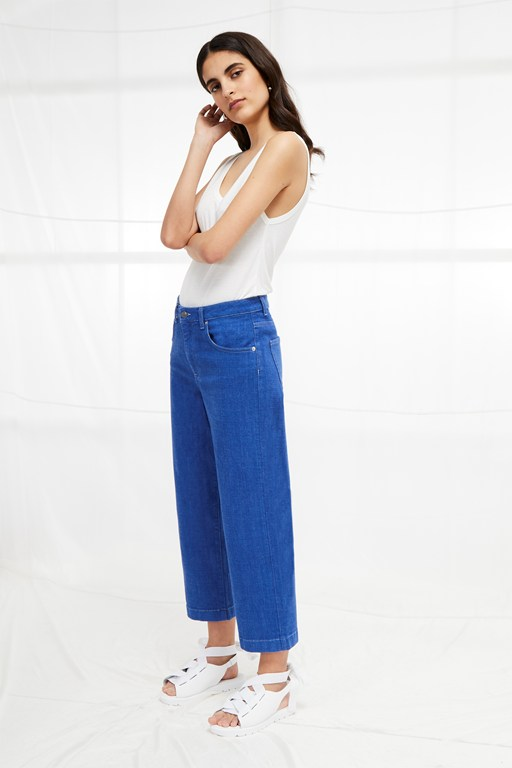 cropped cone jeans