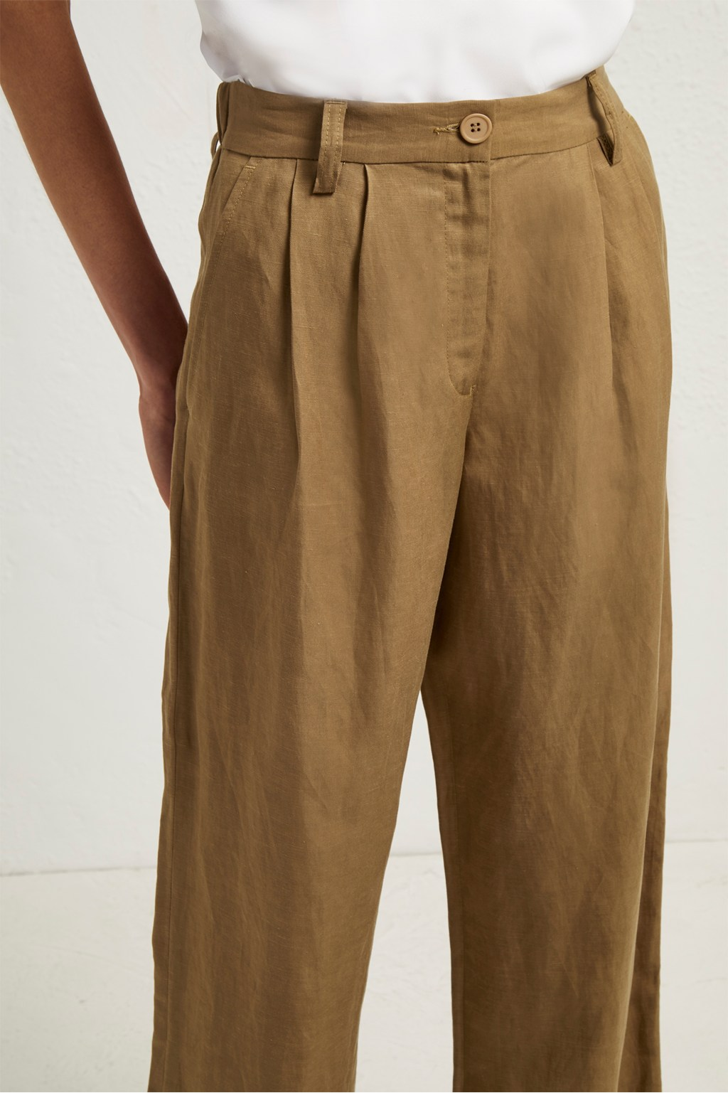 great prices professional discount up to 60% Caspia Linen Pleated Trousers