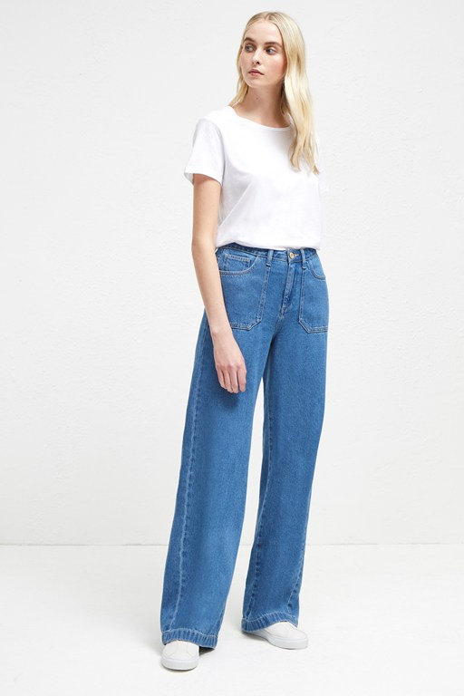 shelby denim wide leg jeans