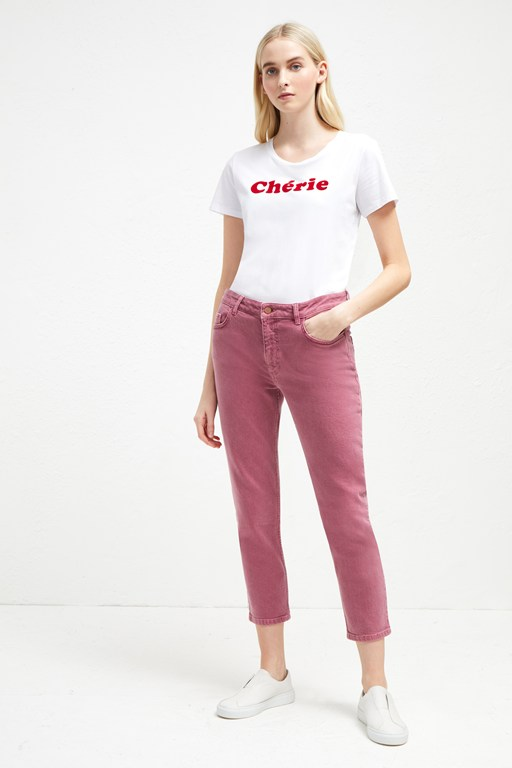 antique dye relaxed tapered jeans