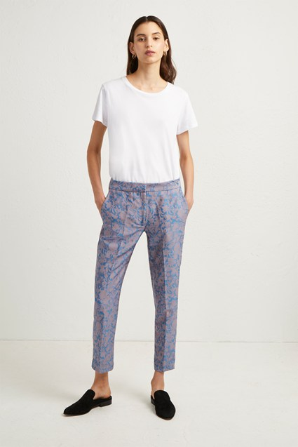 Ellette Jacquard Tailored Trousers