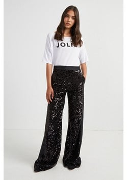 Alodia Sequin Flared Trousers