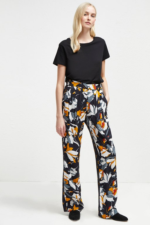 aventine drape wide leg trousers