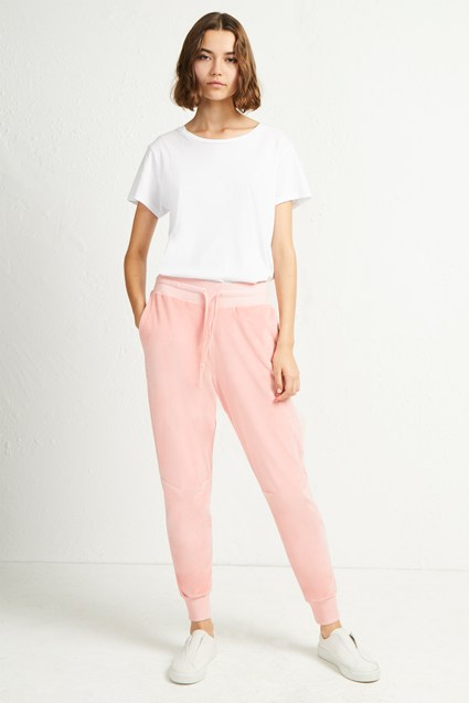 Ruthie Velour Jersey Joggers