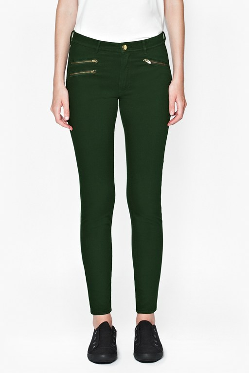 Lilly Super Skinny Jeans With Zippers