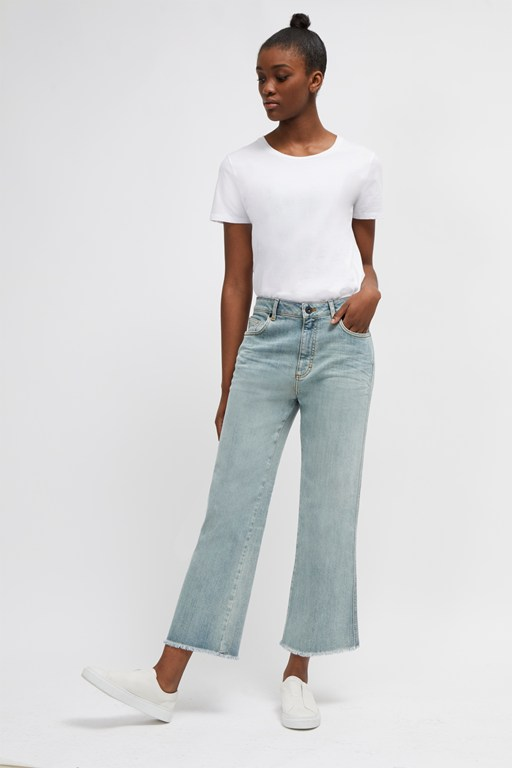 milo denim straight boot cut jeans
