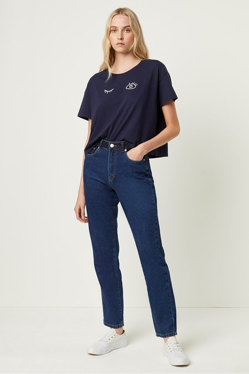 leona denim high waisted jeans