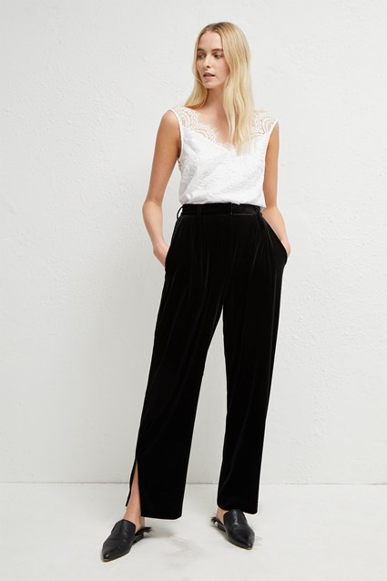 Amato Velvet Wide Leg Trouser