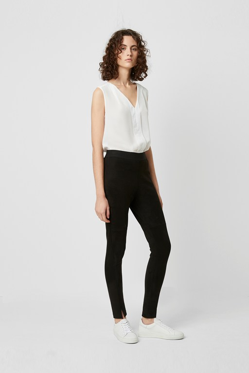 Complete the Look Sonya Suedette Front Split Leggings