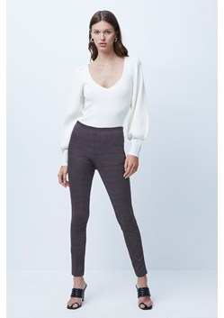Mary Dogtooth Jersey Skinny Trouser