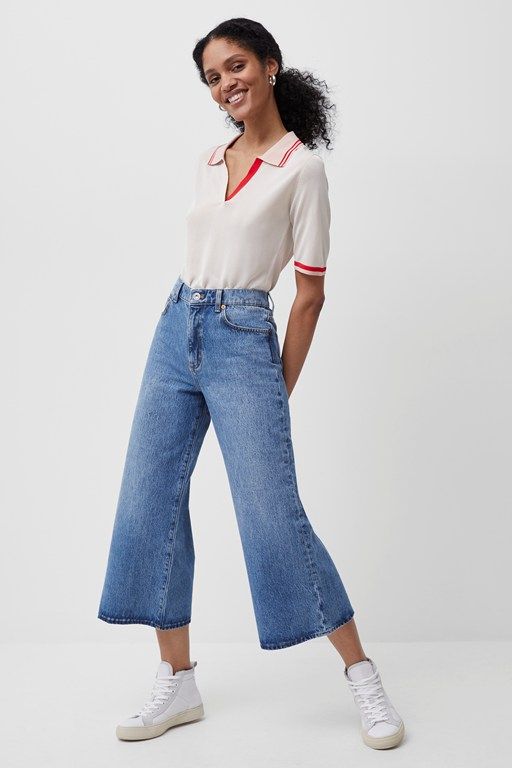 piper recycled cropped wide leg jeans