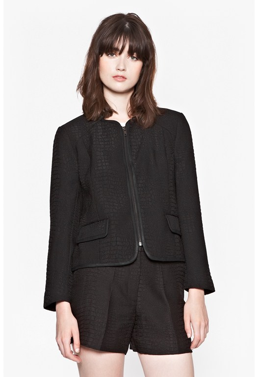 Croc Luxe Collarless Jacket