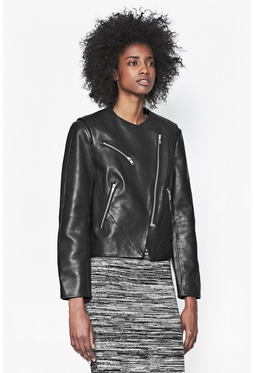 Northern Leather Collarless Jacket