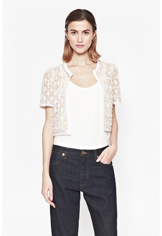 Kristal Lace Beaded Jacket