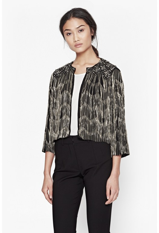DIAMOND FRINGE JKT
