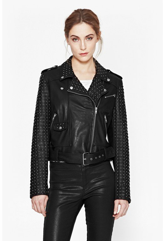 Chaos Leather Studded Biker Jacket
